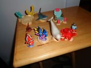 Rare Lot Of 8 Finding Nemo Finding Dory Pvc Cake Topper Action Figures Toys