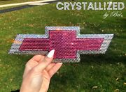 Crystallized Emblem For Chevy Chevrolet Rear Bowtie Bling W/ Crystals