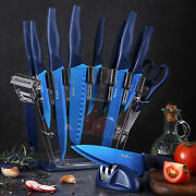 Professional Chef Kitchen Knife Set 16 Pcs Stainless Steel Sharp Blue Knives