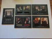 2020 Game Of Thrones The Complete Series 5 Card Relic/costume Set Sd2 Dc1-dc4