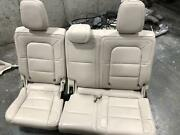 2018-2019 Lincoln Navigator 3rd Row Seat Beige Leather Split Bench