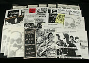 Lot Of 25 Original 1980and039s Punk And Industrial Concert Flyers Posters Marginal Man+