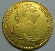 1788 Madrid 2 Escudos Charles Iii High Grade Gold Doubloon Spanish Colonial