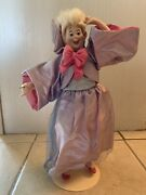 Rare Franklin Mint Disney Cinderella Fairy Godmother Heirloom Doll With Stand