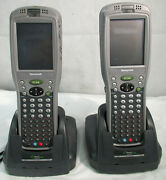 Honeywell Dolphin 9950 Hand Held Scanners W/base Lot Of 2 For Parts/ Repair
