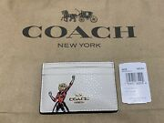 Nwt Coach Marvel X Carol Danvers Capt. Marvel Pebbledleather Card Case Msrp88