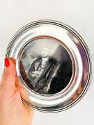 1972 Kirk And Son Vintage Sterling Silver 925 Plate Young George Washington 95 Gr
