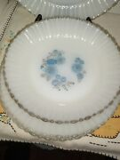 Vintage Termocrisa Mexico Milk Glass 5 Plates5 Salad Bowl 2saucers And 2 Cups