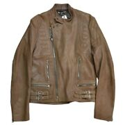Used __louis Vuitton Leather Riders Jacket Z-223 Free Shipping