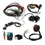 Wiring Harness Cdi Coil Solenoid Rectifier Wiring Kit Kit For Quad Bike 50cc