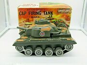 Vintage Battery Operated Marx Model No.hk81xx Military Cap Firing Tank