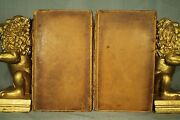 Lot 2 Rare Old Antique Leather Religious Books The True Plan Of A Living Temple