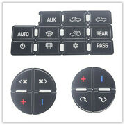 5pcs Ac Button Repair Kit Decal Stickers Dash Replacement For 2007-2014 Gm