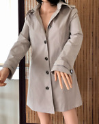 Ivy Made In Italy Roma Classic Trench Coat Above Knee Beige Size M It - 48