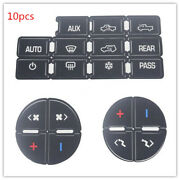 10 Set Ac Button Repair Kit Decal Stickers Dash Replacement For 2007-2014 Gm