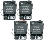 Replaces Part Cb60 Waterproof 60 Amp Circuit Breaker With Auto Reset 4 Pack