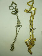 2 Antique Vintage Pocket Watch Chains For Restorations Jewelry