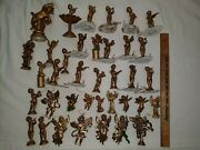 Vintage Cherub Music Angel Christmas Ornament Mixed Lot 35+ Gold Gilded Painted