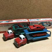 Rare Cragstan Auto And Boat Carrier Power Friction Tin Truck Toy Japan Made W/ Box