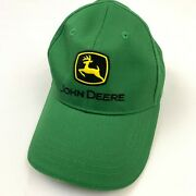John Deere Boys Hat Nothing Runs Like A Deere Fitted Stretch All Green Cap
