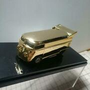 Rare Vw 2002 Dan's Diecast 24kt Gold Bus Limited Edition 1/64 Shipped From Japan