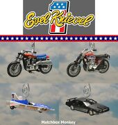 Evel Knievel Harley Xr750 Triumph T120 Motorcycle X2 Skycycle Christmas Ornament