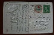 1911 Red Cross Christmas Seal On Postcard Tied With 1 Cent Stamp Santa Elf Cover