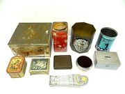 Mixed Vintage And Antique Lot Old Advertising Tins Loft Candy Bugler Birds