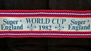 1982 Vintage Fifa World Cup Soccer England Supporter's Scarf