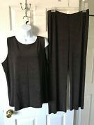 Chicos Travelers Pants Tank Top Cocoa Bean Brown Size 3 New