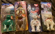 Ty Beanie Babies From Mcdonalds W/errors Set Of 4 New