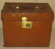 Antique Henry Maxwell 'shoes And Boats Care Leather Handle Box - London Uk Bespoke