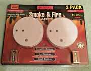 New Kidde 0916llnt Smoke And Fire Alarms - 2 Pack Brand New Sealed With Batteries