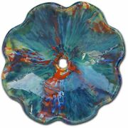 Multi-color Psychedelic Red Green And Blue Above Vessel Bathroom Sink
