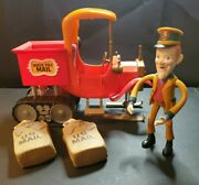 Santa Claus Is Coming To Town North Pole Mail Truck And S.d. Kluger Figure Set Htf