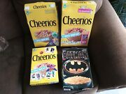 Empty Cheerios Cereal Box Lot+ Batman Cereal. Unflattened