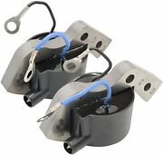 Set 2 Ignition Coil Omc Boat Outboard 580197 580416 582370 582921 582995 584477