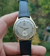 Vintage 18k Gold Omega Bumper Automatic Watch 1940andrsquos 35mm All Original