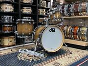 Dw Jazz Series Drums In Natural To Candy Black Burst Lacquer Over Exotic Oak