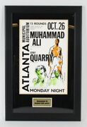 Muhammad Ali Vs Jerry Quarry Fight Poster On-site