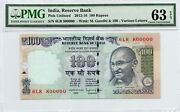 2012-16 India 100 Rupees Exotic 6lr 800000 Pmg 63 Epq Choice Uncirculated P0152