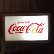 Antique Sign Light Drink Coca Cola Metal Vintage Retro Imported From Us