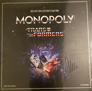 Monopoly Transformers Deluxe Collectors Edition -limited Edition Very Rare-