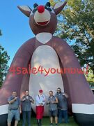 32and039 Foot Inflatable Rudolph The Red Nosed Reindeer Custom Made