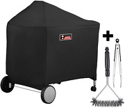 Grill Cover For Weber Performer Charcoal Grills 22 Stainless Steel Brush Tongs