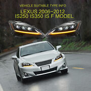 Led Square Headlight Corner Signal Lamps For Lexus Is250 Is350 Is 220d Is F Mode