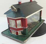 Antique Bronze Painted Victorian Iron Terrarium Tin Roof Stamped And Electrified