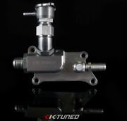 K-tuned Upper Coolant Housing Straight Inlet W/ Filler Hose And 16an K24 K20z3