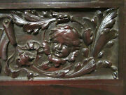 Antique Rosewood Door With Carved Angels 35 X 80 Architectural Salvage