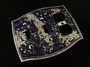 Switch Plate Crystallized Color Design Cover Bling W/ Crystals Nickel